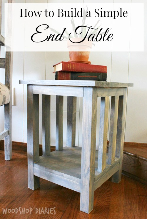 DIY Side Table Plans Pretty Handy Girl - How to build an end table