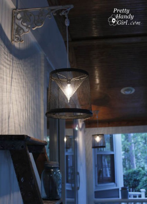 Minnow Trap Light Fixture - Best Lighting DIYs - Pretty Handy Girl