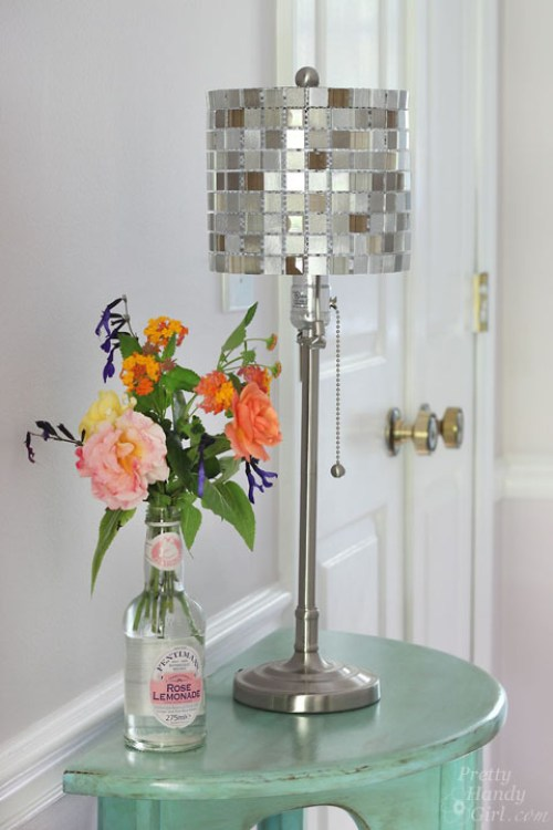 Mosaic Glass Tile Lamp - Best Lighting DIYs