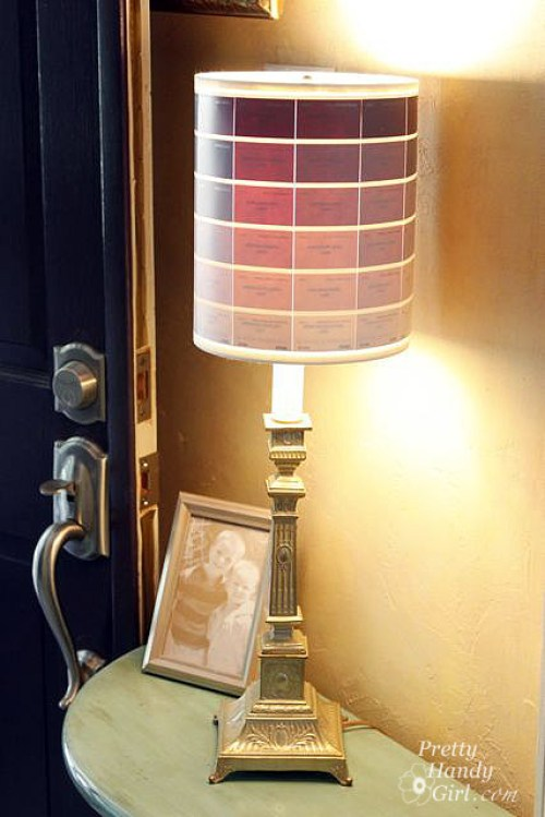 Ombre Paint Chip Lamp - Best Lighting DIYs - Pretty Handy Girl