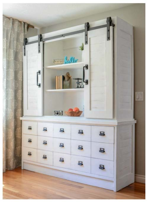 Sliding Barn Door Hutch and Buffet by The Created Home