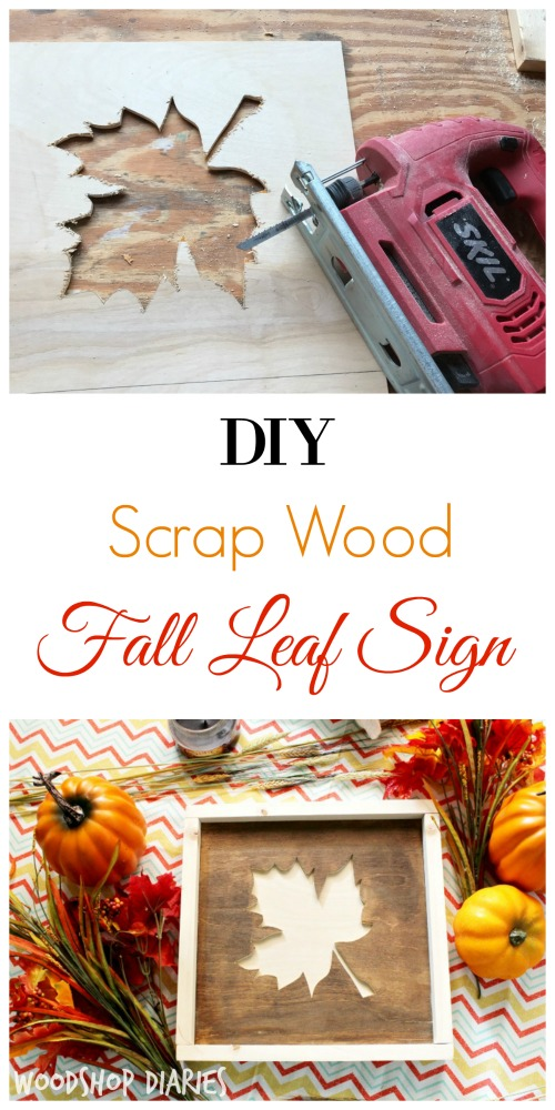 How to make an adorable fall sign from scrap wood