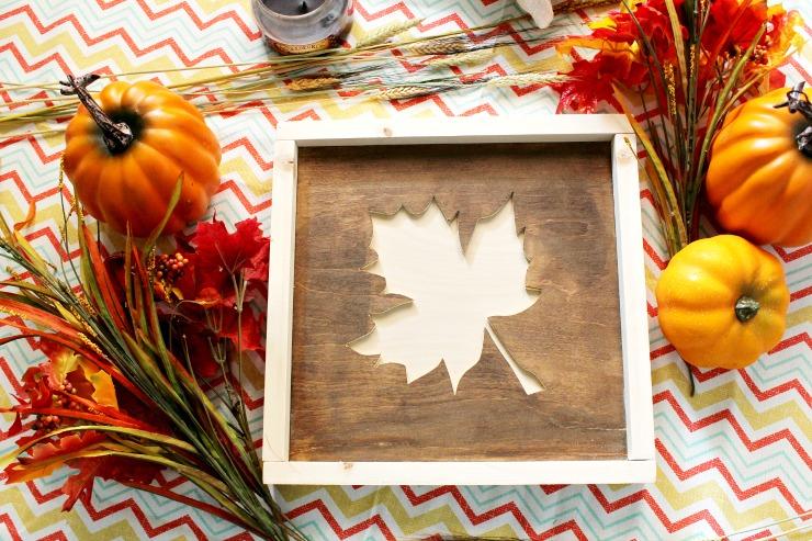 DIY Fall Sign from scrap wood