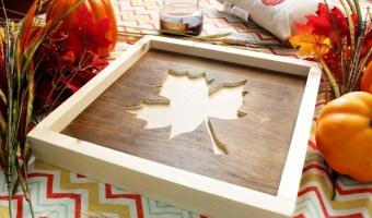 DIY Framed fall art from scrap wood
