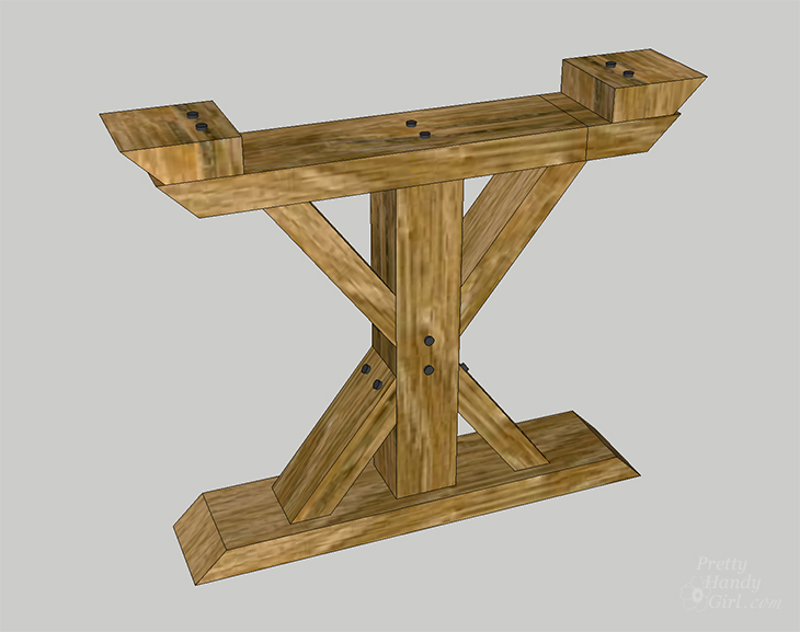How to Build a Chunky X Farmhouse Table