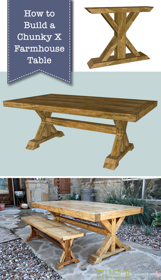Marvelous How To Build A Chunky X Farmhouse Table Pretty Handy Girl Dailytribune Chair Design For Home Dailytribuneorg