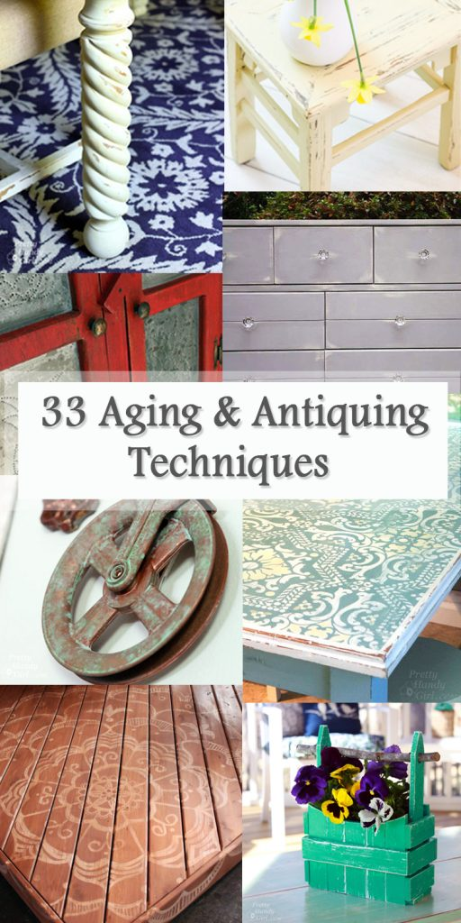 Aging and Antiquing Finishes Roundup Pinterest Image