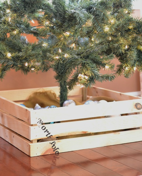 Crate Christmas tree box