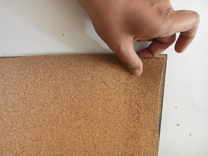 Add cork roll to make a DIY cork board