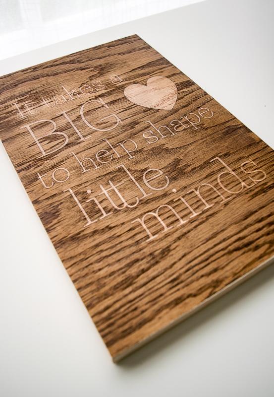 Wooden sign teacher gift