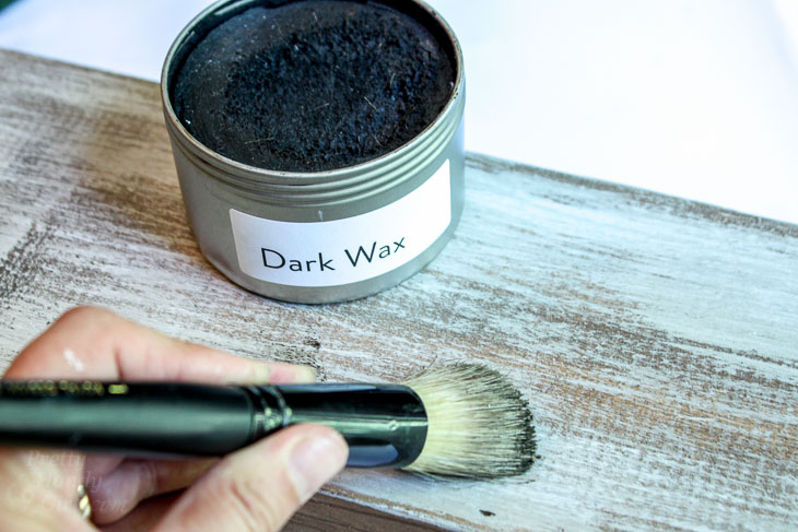 Apply Dark Wax.