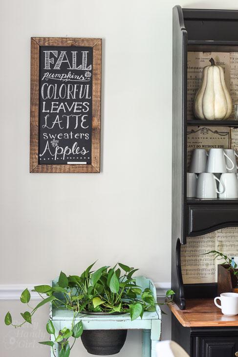 Fall leaves chalkboard sign
