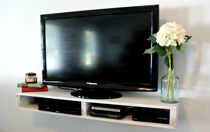 How To Build A Floating Tv Shelf Pretty Handy Girl