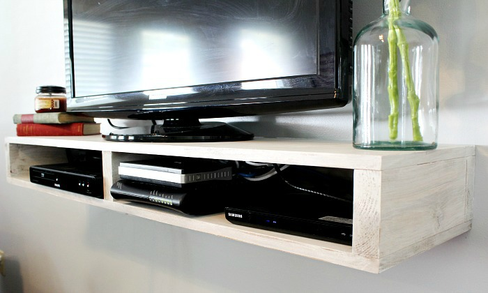 build a floating tv shelf