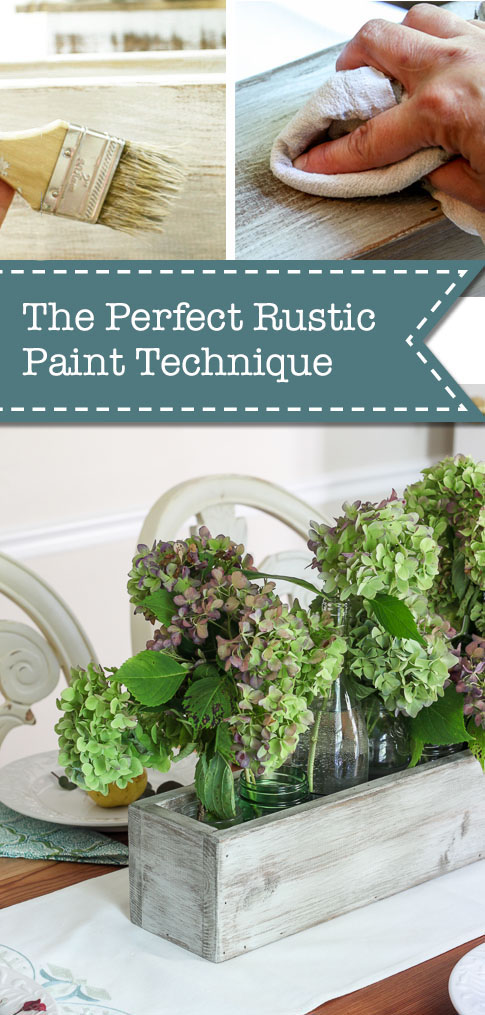The Perfect Rustic Paint Technique {with Video Tutorial}