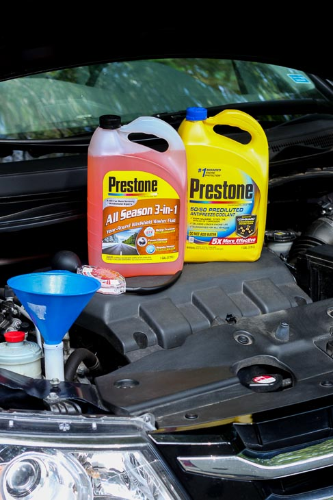 Prestone products to keep car running smooth in winter.