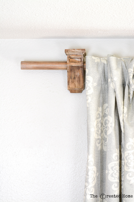 DIY Corbel Curtain Rod Holders