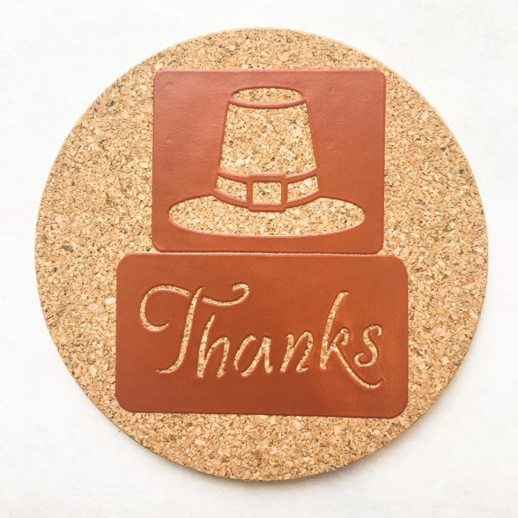 Combine multiple stencils together to create new designs on your cork trivets.
