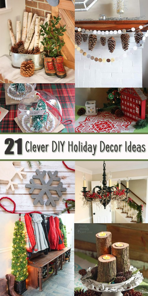 Clever DIY Holiday Decor Ideas Pinterest Image