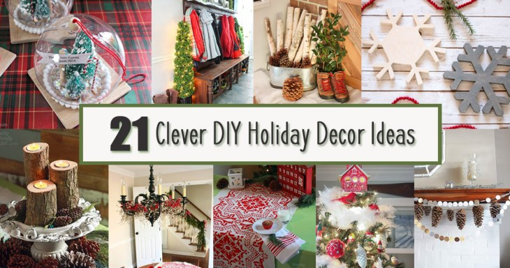 Clever DIY Holiday Decor Ideas Social Media Image