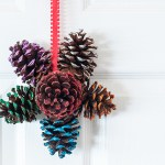 Easy Glittered Pinecone Door Hanger