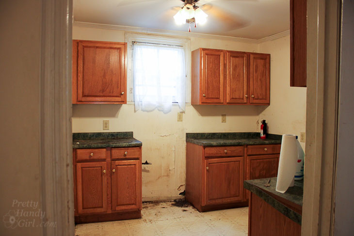 kitchen with cabinets