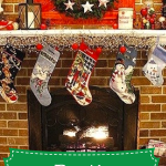 rustic christmas home decor on mantel