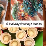 9 holiday storage hacks social media image