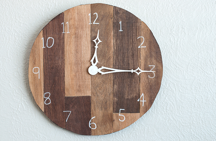 DIY scrap wood wall clock