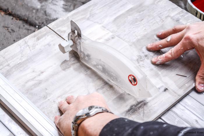 wet saw tile saw fireplace