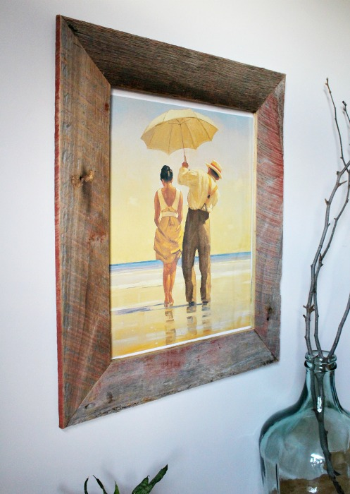 How to DIY a Barn Wood PIcture Frame