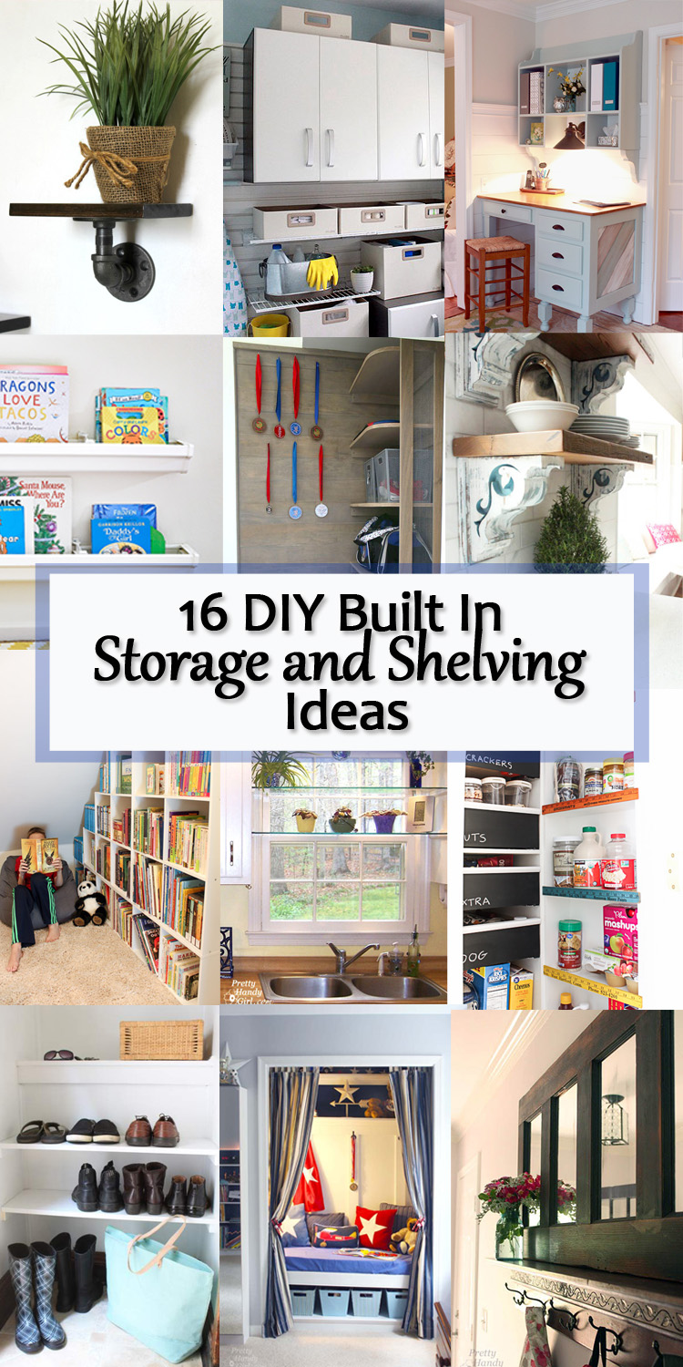 16 Diy Built In Storage And Shelving Ideas Pretty Handy Girl