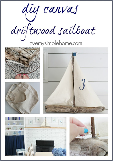 Love My Simple Home Driftwood Sailboat