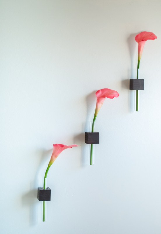 test tube wall mounted vase