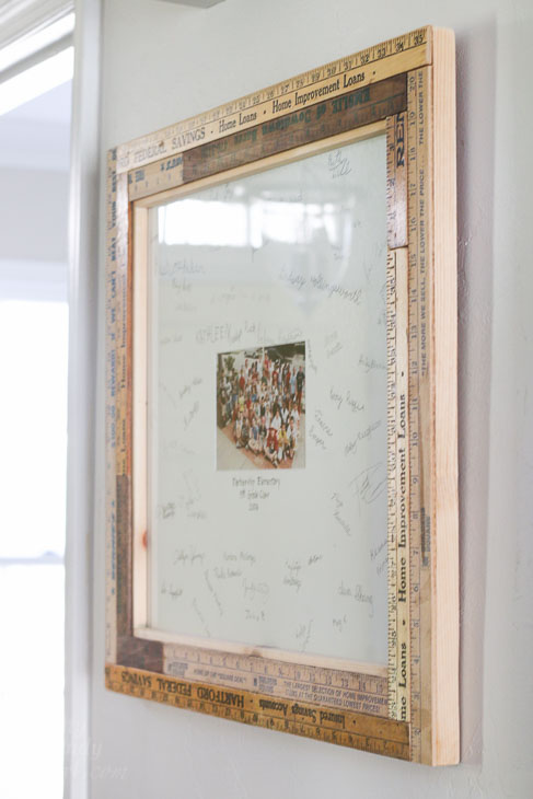 How To Build A Custom Vintage Ruler Picture Frame Pretty Handy Girl