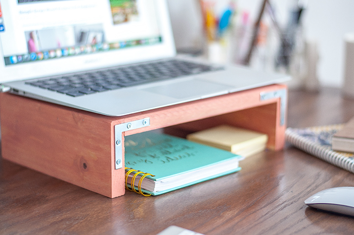 Easy DIY Laptop stand using scrap wood.
