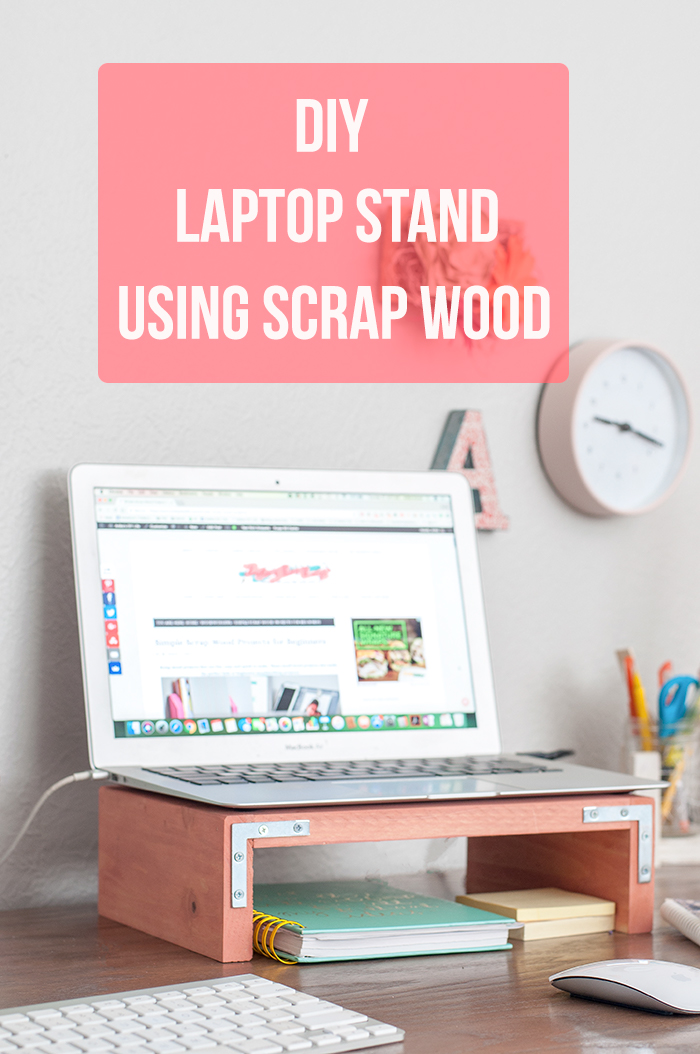 How to build a laptop stand using scrap wood.