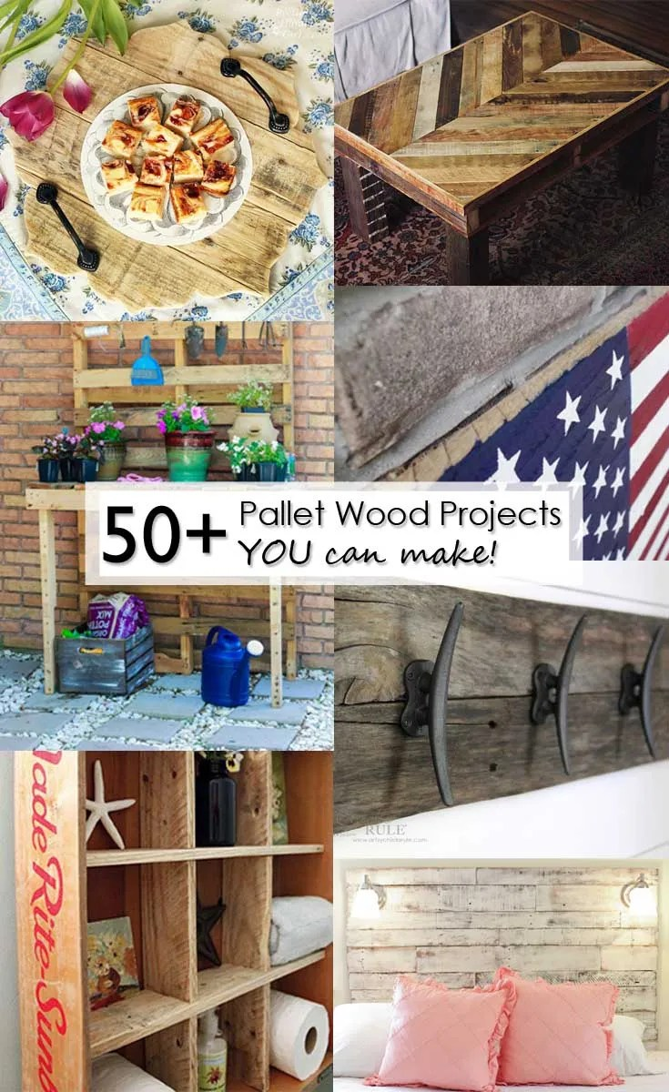 50 plus pallet wood projects you can make Pinterest Image