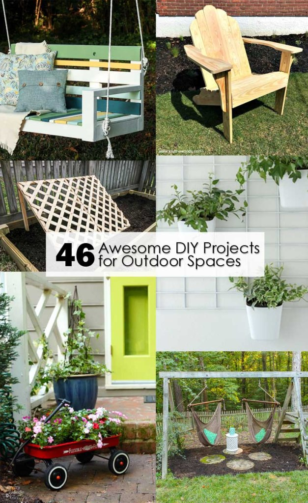 46 Awesome DIY Projects for Outdoor Spaces Pinterest image