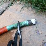 cut off old hose end