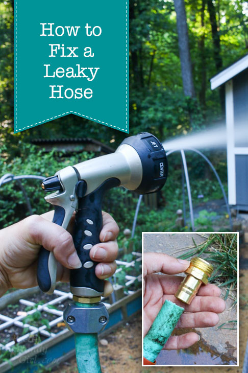 how to fix a leaky garden hose