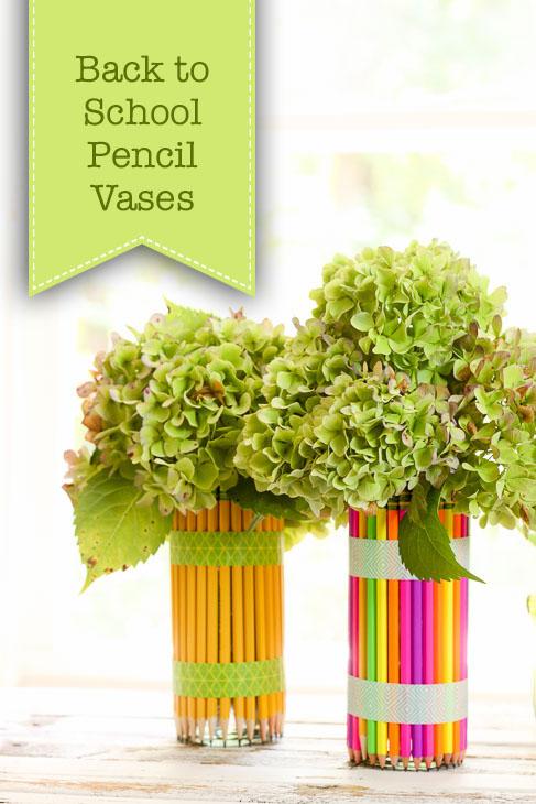 DIY Pencil Vases