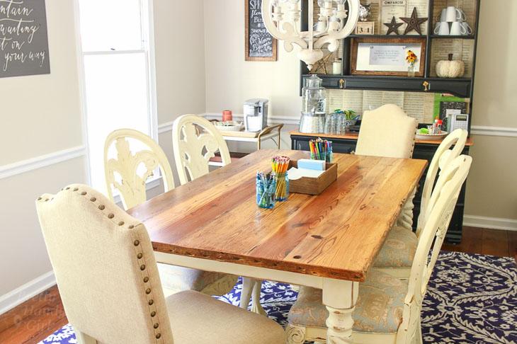 Dining Room Makeover Homework School Work Station Pretty Handy Girl