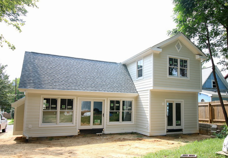Locally Sown exterior paint with True White trim