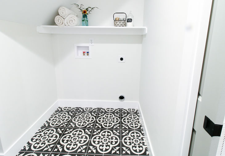 Laundry Room with Avington Cement Tile Floor.