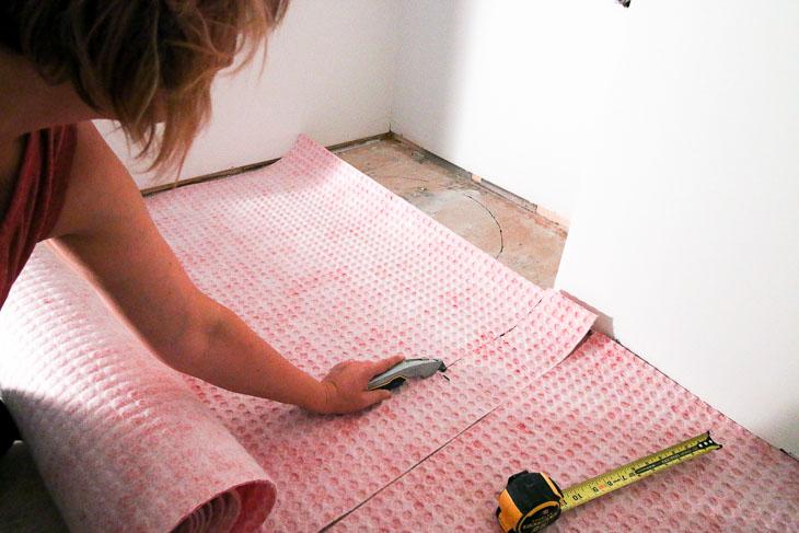 cutting uncoupling mats.