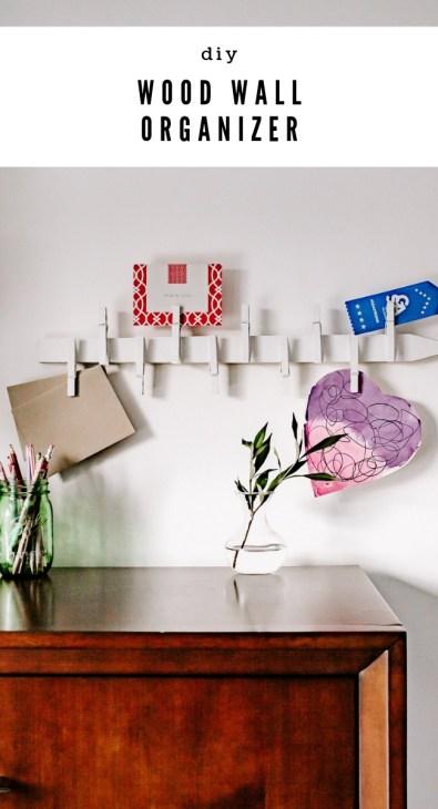 DIY wooden wall organizer