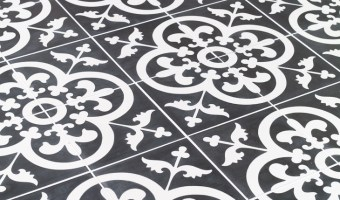 Avington Black & White Cement Tiles from TheBuilderDepot.com