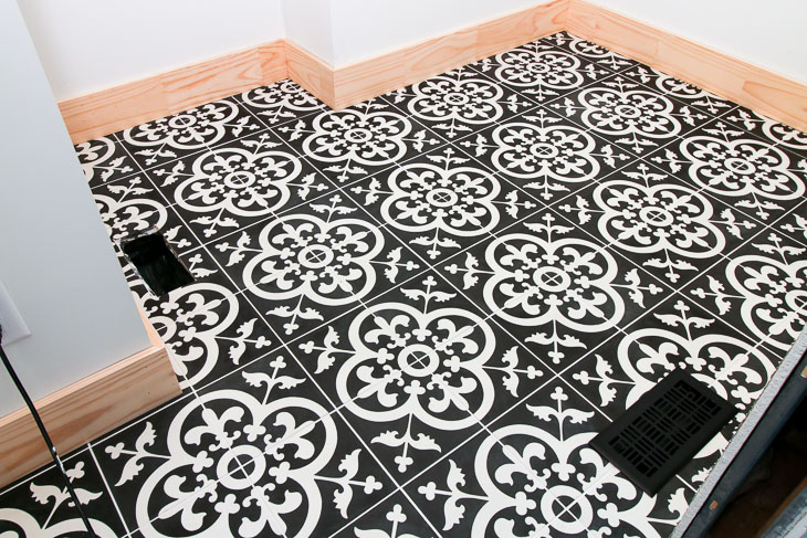 Installed Avington Cement Tiles from TheBuilderDepot.com