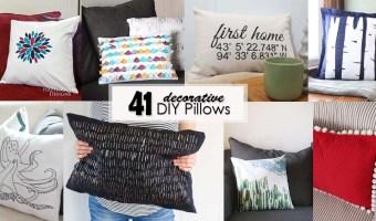 41 decorative DIY pillows - Social Media Image